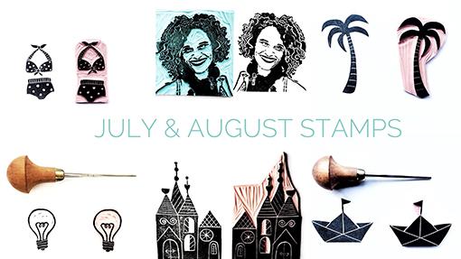 mijn favoriete stempels van de maanden juli en augustus