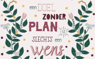 Van dromen en doelen naar plannen