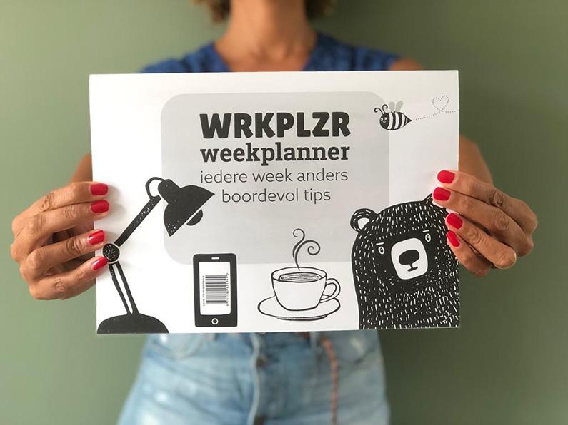 Plannen met plezier met de WRKPLZR weekplanner